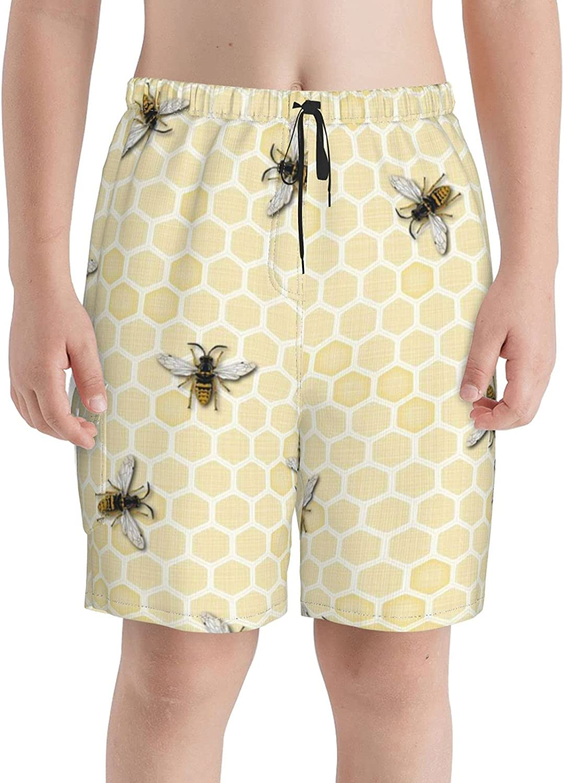 Neddelo Bee Boys New products, world's highest quality popular! Swim Trunks Short Teens Max 77% OFF Boardshorts Beach