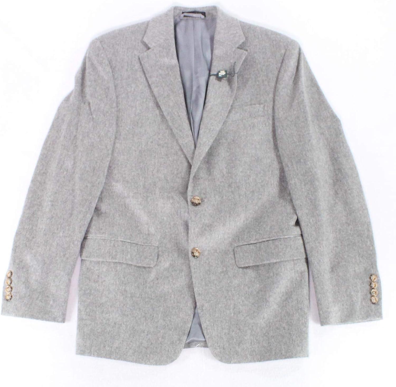 Ralph Lauren Mens Ultraflex Two Button Blazer Jacket pasgry 36