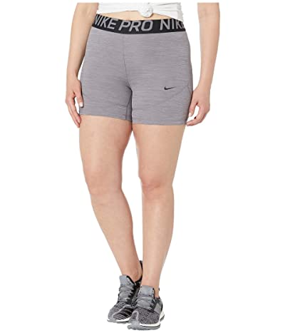 Nike Pro Shorts 5 (Gunsmoke/Heather/Gunsmoke/Black) Women