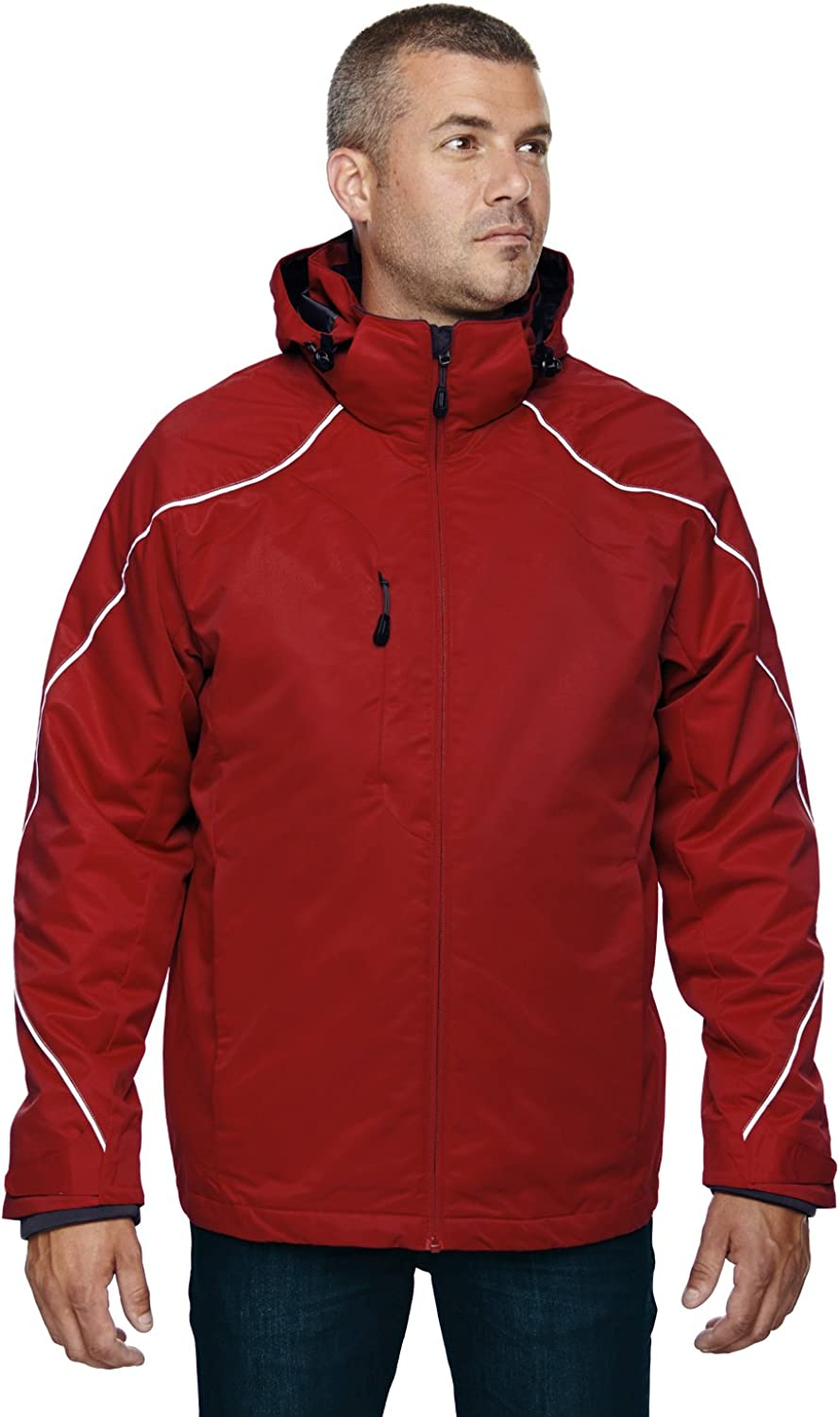 Men's Tall Angle 3-in-1 Jacket with Bonded Fleece Liner CLASSIC rot 850 2XT