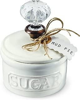 Mud Pie Door Knob Sugar Bowl, White (4781004)
