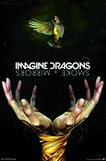 Trends International Imagine Dragons - Smoke Premium Wall Poster, 22.375
