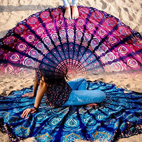 Folkulture Set of 2 Mandala Tapestry Hippie Indian ...