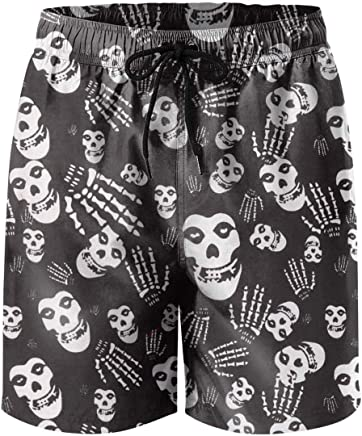7e454dd915f62 XULANG Man Halloween Skull Swim Trunks Surf Fitness Stretch Boardshorts