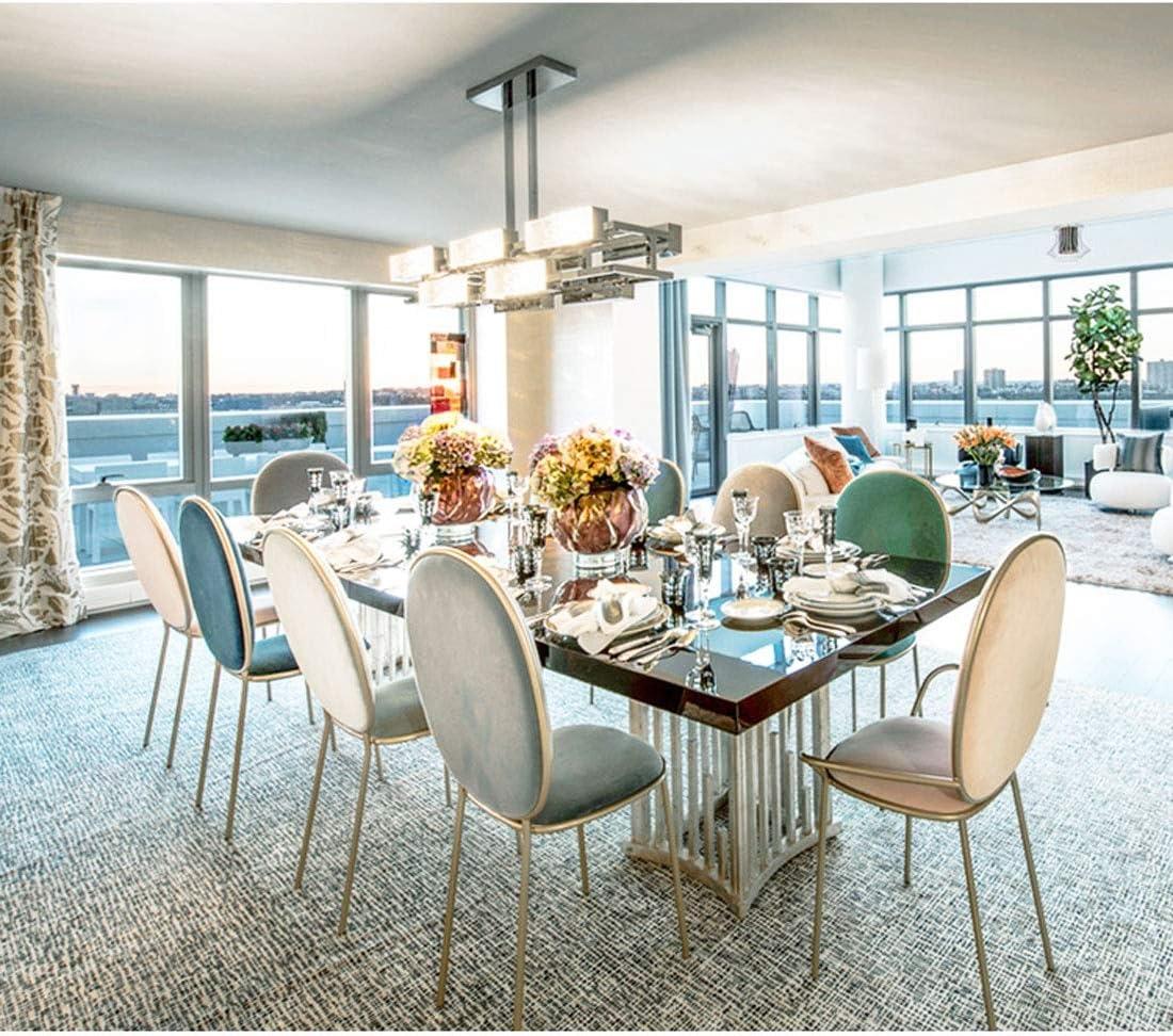 Accueil Chambre Chaise salle à manger moderne Minimaliste Lazy chaises Mignon, Chambre métal Coiffeuse Chaise de maquillage Y1218 (Color : Pink) Light Blue