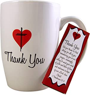 Thanking God 1 Thessalonians 1:2-3 Mug and Bookmark Gift Set, 16 oz