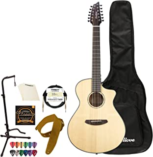 Breedlove Pursuit Concert 12 String CE Sitka-Mahogany Acoustic-Electric Guitar with Accessories