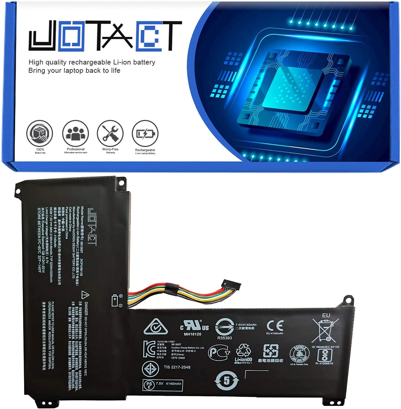 Ranking Safety and trust TOP19 JOTACT 0813007(7.5V 31Wh 4140mAh Batter Laptop 2-Cell)