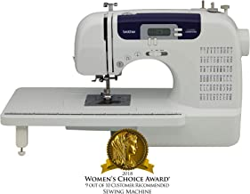 Brother Sewing and Quilting Machine, CS6000i, 60 Built-In Stitches, 7 styles of 1-Step Auto-Size Buttonholes, Wide Table, Hard Cover, LCD Display and Auto Needle Threader (Renewed)