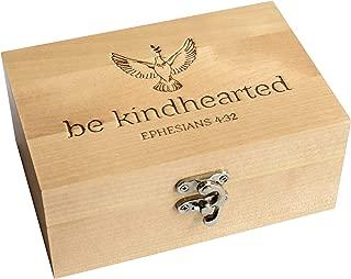 West End Warehouse Keepsake Box, Christian Gifts for Women Men and Children, Memory Box, Trinket Box, Wooden Box, Prayer Box, 4 x 6 inches