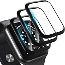[3 Pack] Screen Protector for Apple Watch Series 6/5/4/SE 40mm 2020 Bubble-Free, 3D Full Coverage Anti-Scratch Shatter-Pro...