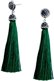 Thread Tassel Earrings Statement Tassel Dangle Earrings Bohemian Fringe Drop Earrings Gifts for Women