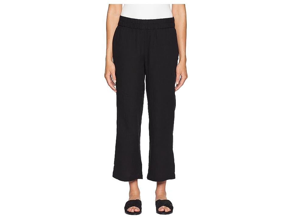 Eileen Fisher Straight Leg Pants (Black) Women