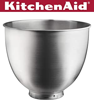 KitchenAid KSM35SSB 3.5-Qt. Brushed Bowl-Stainless Steel, Quart, Metallic