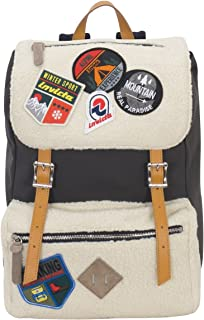 Backpack INVICTA - MY JOLLY BEAR PATCH - White - Laptop Tablet Pocket - MADE IN ITALY - 18 LT