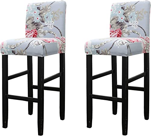 WOMACO Bar Stool Covers Stretch Counter Height Side Chair Slipcover Protector for Dining Room Kitchen Cafe Furniture ...