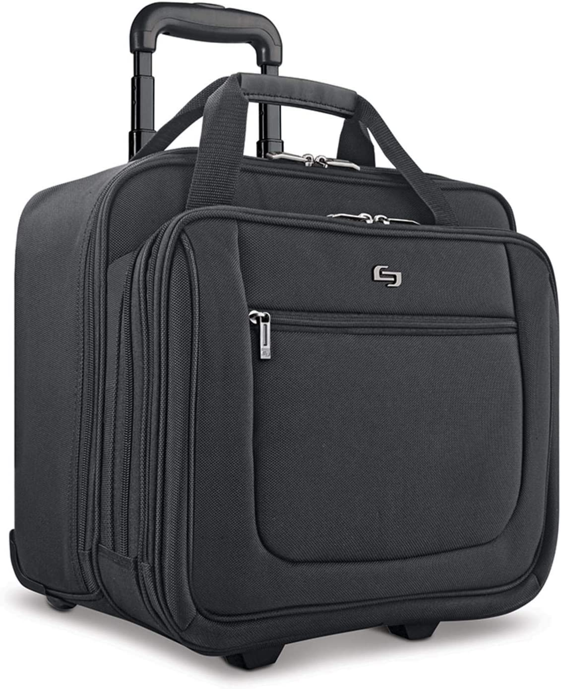 Solo New York Bryant Rolling Bag with Wheels, Fits Up to 17.3-Inch Laptop, Black, 14