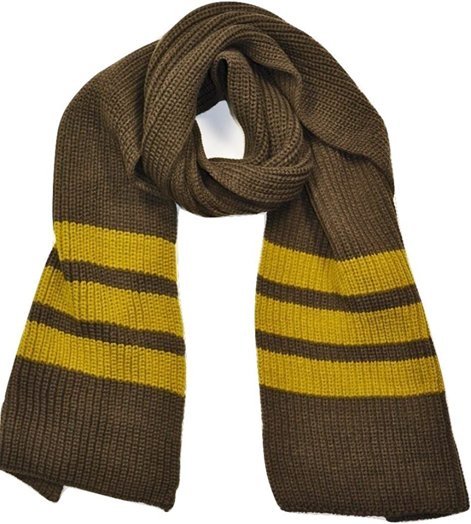 CNUNKY LONG KNIT SCARF FOR MEN RUGBY STRIPES MENS SCARF