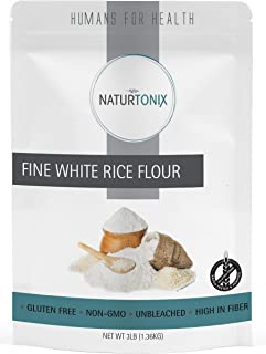 Fine White Rice Flour, 3 LB Resealable Pouch, Batch Tested and Verified Gluten Free, Non GMO and Certified Kosher, Product...