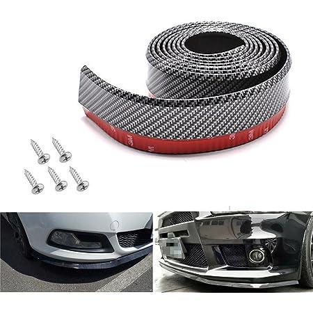 4Pcs dljztrade Universal Canards Splitters Front Bumper Fins Lip Trim Car SUV Black