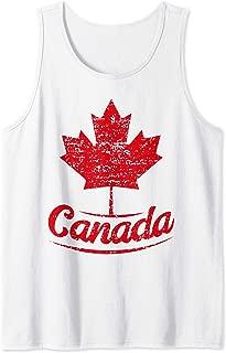 Canada Maple Leaf Proud Vintage Retro Canadian Flag Tank Top