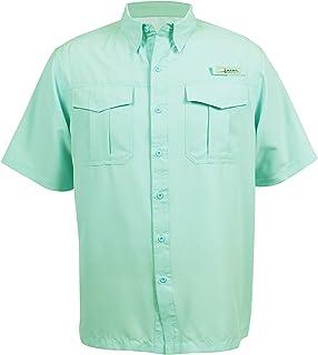 HABIT Men's Belcoast Short Sleeve River Guide Fishing Shirt, Limpet Shell, 2X-Large