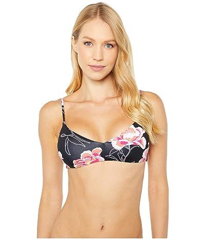 Roxy Print Classics Athletic Tri Swim Top (Anthracite Zilla) Women