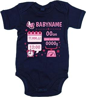 shirtdepartment Baby Body - Personalisiertes Geschenk zur Geburt - Mädchen