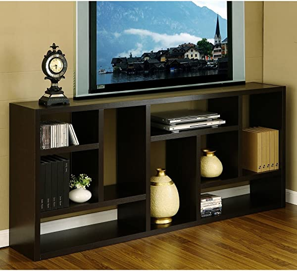 Tv Stand Is Great Display Cabinet And Bookshelf 3 In 1 Bookcase Used As Storage And Trophy Case Wall Flat Screen Furniture Makes A Great Modern Wood Unit Used In Home Office Or Hallway Amazing Bookcase Also An Entertainment Center