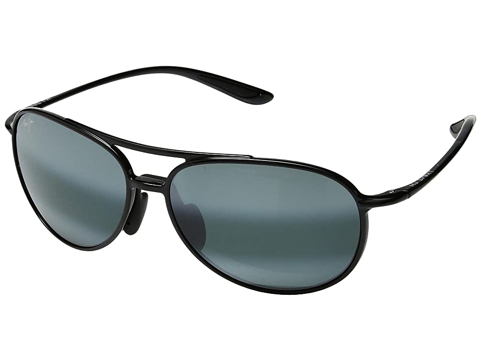 Maui Jim Alelele Bridge (Gloss Black) Athletic Performance Sport Sunglasses