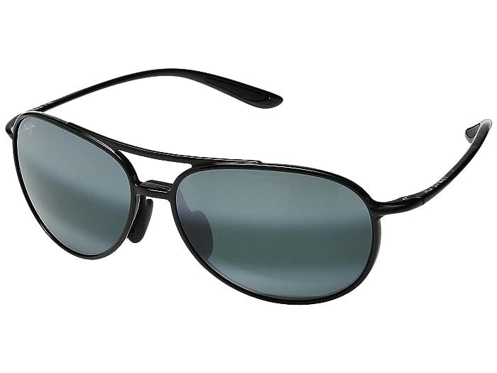 Alelele Bridge (Gloss Black) Athletic Performance Sport Sunglasses