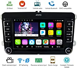 ATOTO A6 Android Car Navigation Stereo w/ 2xBluetooth - for Select Volkswagen/VW - Premium A6YVW710PB 1G/16G Auto Entertainment Multimedia Radio,WiFi/BT Tethering Internet,Support 256G SD &More
