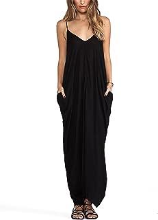 Women's Adjustable Shoulder Straps Maxi Dress
