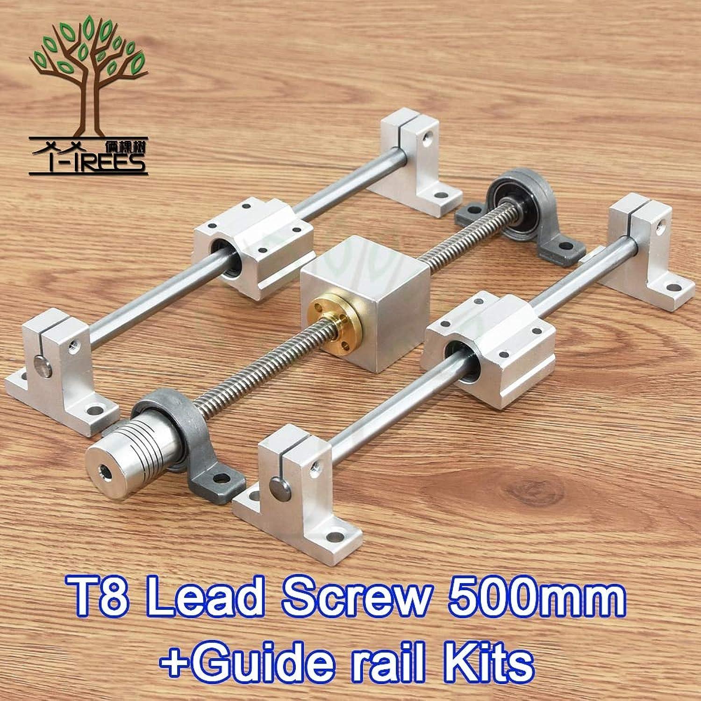 Value-Home-Tools3D Printer Guide Rail Sets T8 Lead Screw Length 500mm+Linear Shaft 8x500mm+KP08 SK8 SC8UU+nut housing+Coupling+42BYGHW609 Motor