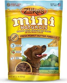 Zuke's Mini Naturals Healthy Moist Training Treats 1 lb Peanut Butter (3 Pounds total) by Zuke's