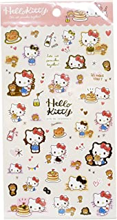 Hello Kitty Sticker Sheet Japan Special Edition Gold Accent