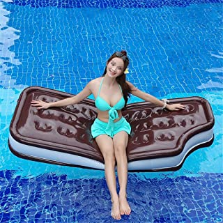 Pool Spring Float Inflatable Ice Cream Sandwich Pool Float Great for Pool Parties (Color : Black, Size : Free Size)