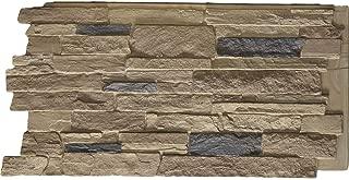Ekena Millwork PNU24X48ALCO Acadia Ledge Stacked Stone Stonewall Faux Stone Siding Panel 48