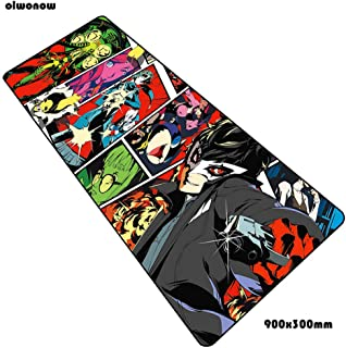 Persona 5 Mats 900X300X3mm Wrist Rest Gaming Mouse Pad Big Keyboard Mousepad Anime Notebook Gamer Accessories Padmouse Mat HGNMP-1538