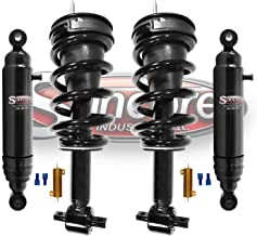 Front Electronic to Quick Complete Struts & Rear Air Shock Absorbers w/Resistors Conversion Kit Compatible with 2007-2014 GMC Yukon