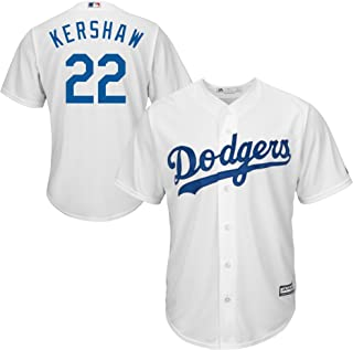 Genuine Stuff Clayton Kershaw Los Angeles MLB Majestic Youth Boys 8-20 White Home Cool Base Replica Jersey