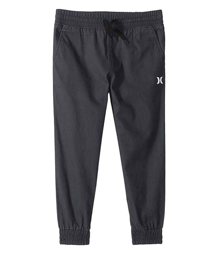 Hurley Kids  Saltwater Wash Tapered Jogger (Little Kids) (Black) Boys Casual Pants