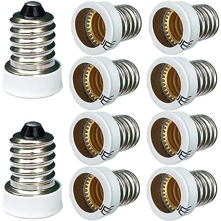 E14 Male to E12 Female Light Lamp Adaptor Light Socket Tools Holder Convert Y6L0