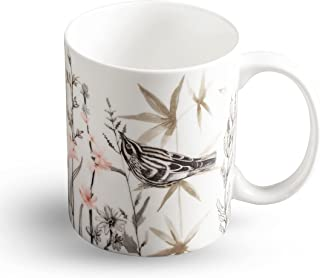 Maison d' Hermine Meadow Florals Fine Bone China Coffee Mug with Handles for Hot Beverages - Coffee   Cappuccino   Latte  ...