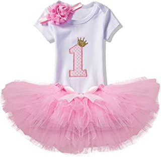 pink gold first birthday outfit