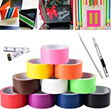 Premium Colored Duct Tape Multi Pack Colors Craft Set - Rainbow Assorted Color - for Kids DIY Arts and Crafts, Home Moving labeling, Item Decoration, Home Improvement by Gesoon