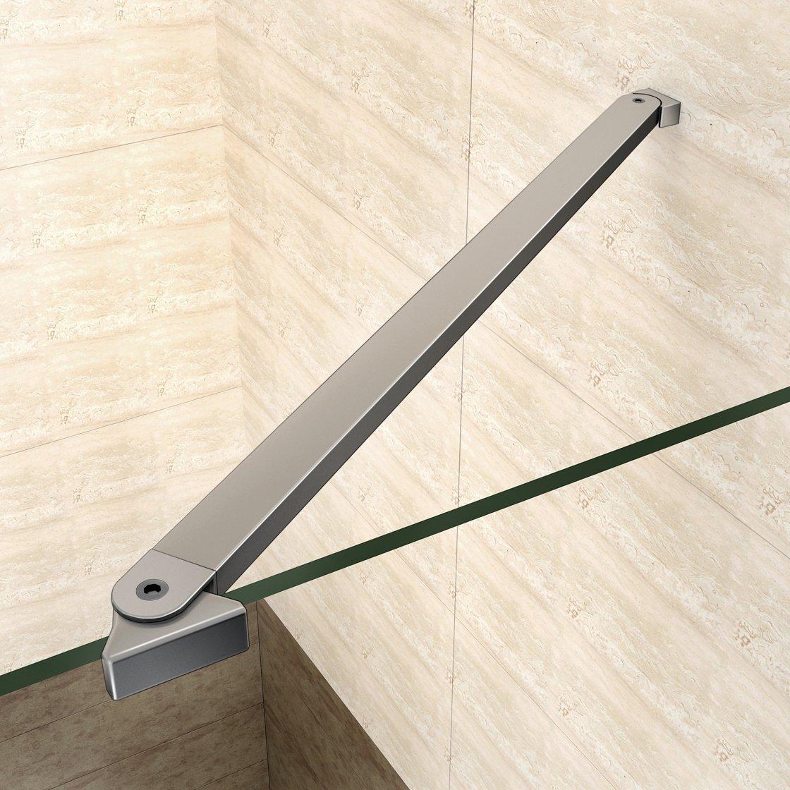 195 cm puerta Ducha nicchia baqueta Box ducha angular cristal ...