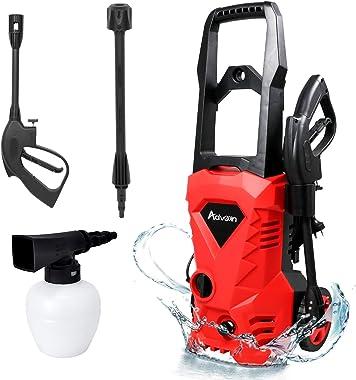 High Pressure Washer, Electric Washing Machine, Adjustable High Pressure Spray Gun (3500PSI-Red)