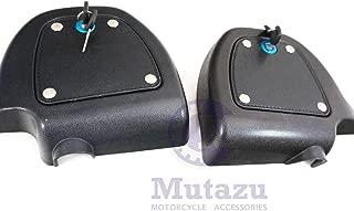 Mutazu Lockable Locking Glove Box Doors set for Harley Lower Vented Fairings