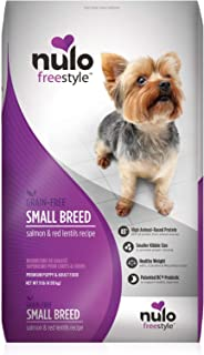 Nulo Small Breed Grain Free Dry Dog Food with Bc30 Probiotic (Salmon and Red Lentils Recipe, 4.5Lb Bag)